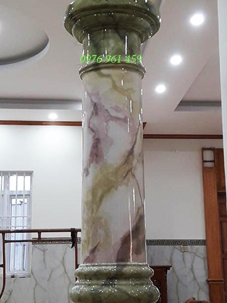 sơn cột giả đá