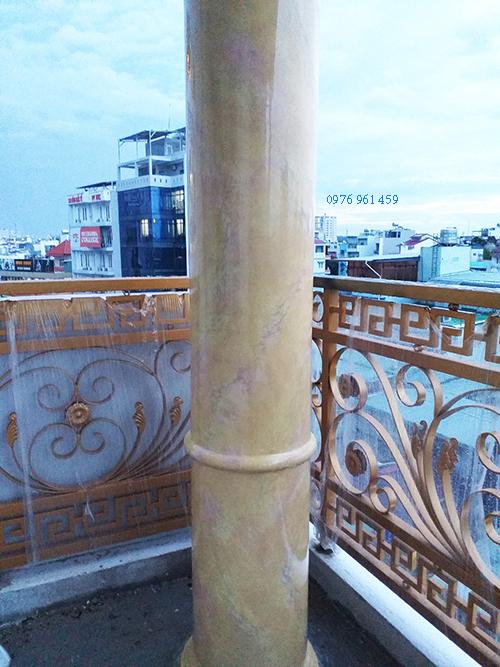 sơn giả đá cột tròn