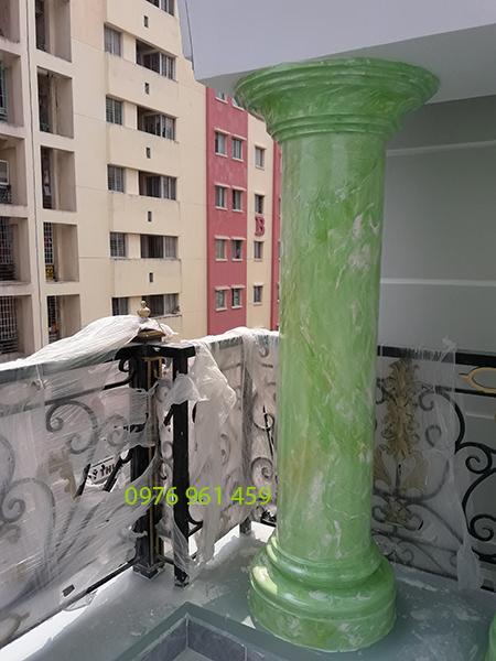 Cột giả đá cẩm thạch màu xanh ngọc