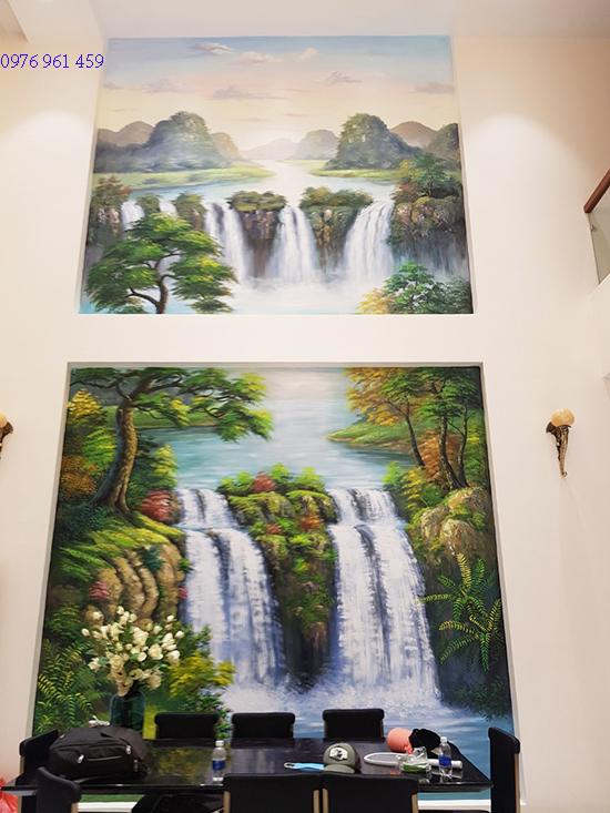 cầu thang vẽ tranh